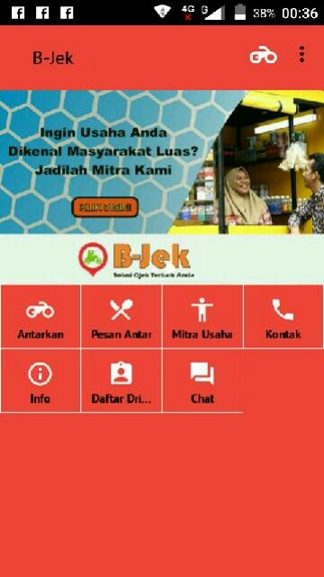 Tampilan Screenshot 1 B-Jek