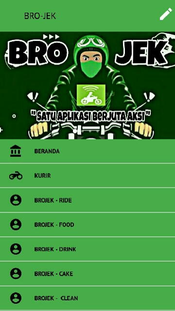 Tampilan Screenshot 1 BRO-JEK