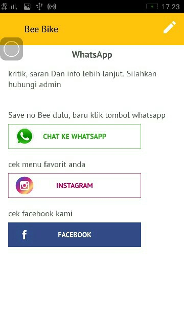 Tampilan Screenshot 1 Bee Bike