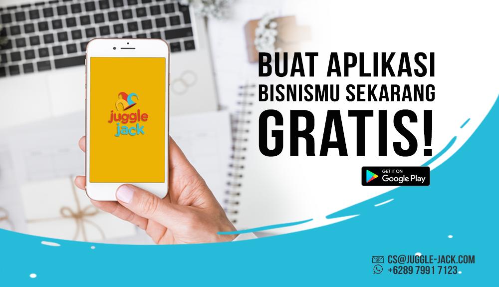 Buat Aplikasi Android Gratis di Juggle Jack