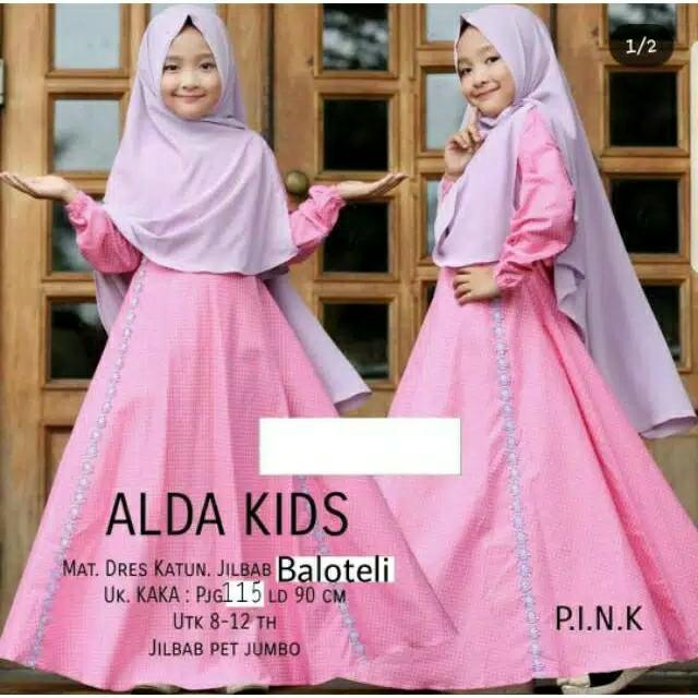 Alda Kids - Gamis Syari Anak Perempuan 2