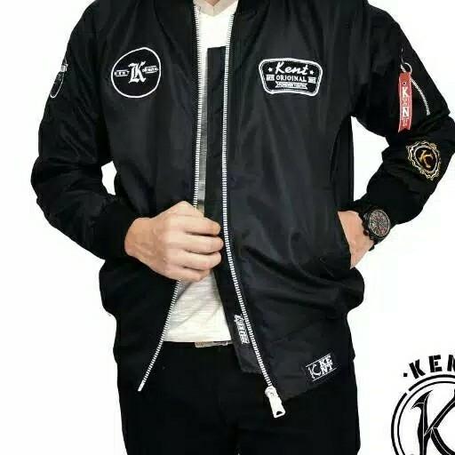 Jaket Bomber KENT RETRO BLACK NEW 4