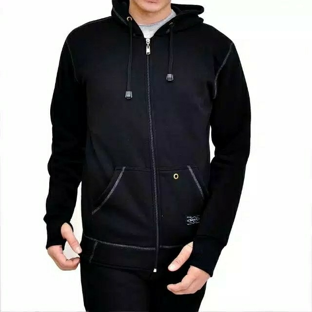 Kent Jaket Zipper Full Black 2