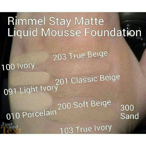 RIMMEL STAY MATTE FOUNDATION 3