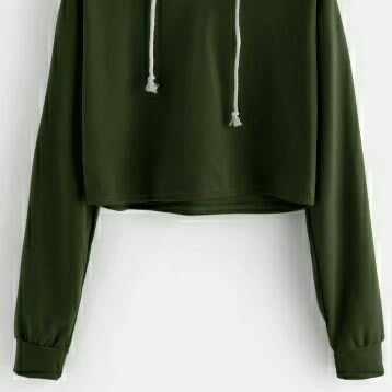 SWEATER CROP BASIC ARMY  2