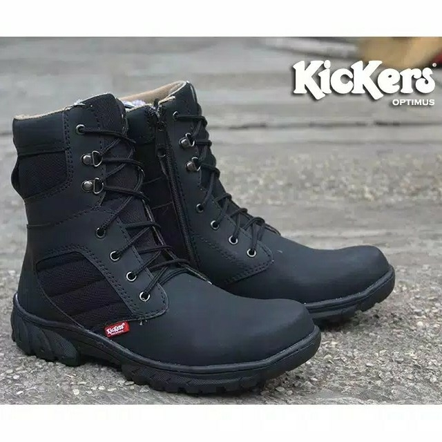 Sepatu Delta Kickers Optimus Black zipper 2