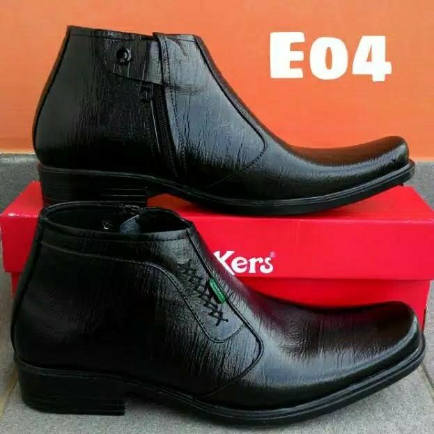 Sepatu Pantofel Kulit Sapi Asli Garut Risleting Formal Kerja Kantoran 2