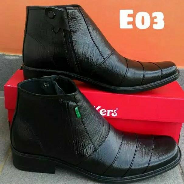 Sepatu Pantofel Kulit Sapi Asli Garut Risleting Formal Kerja Kantoran 4
