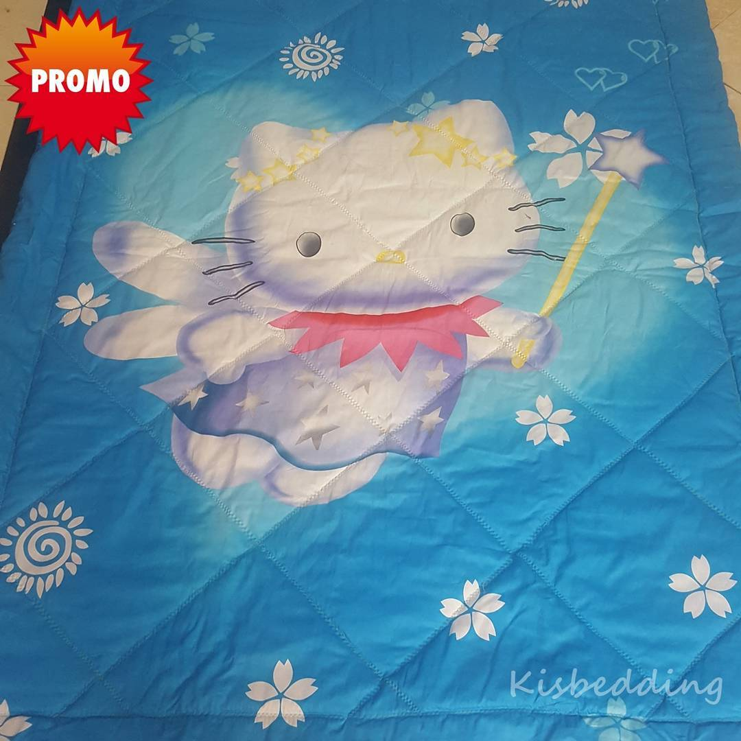Sprei Anak Hello Kitty Blue