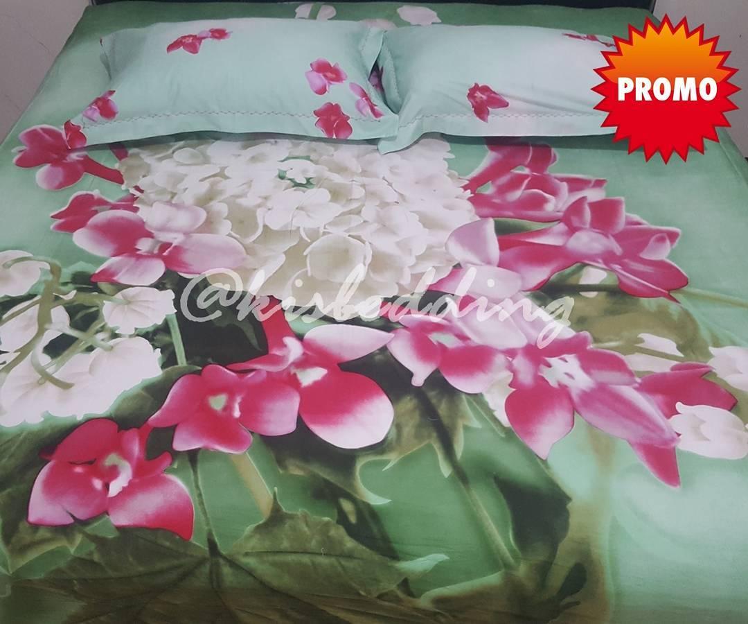 Sprei Motif Bunga-bunga Cerah (160x200)