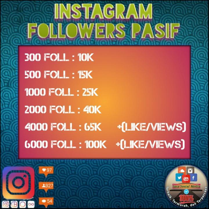 1000 Followers Pasif