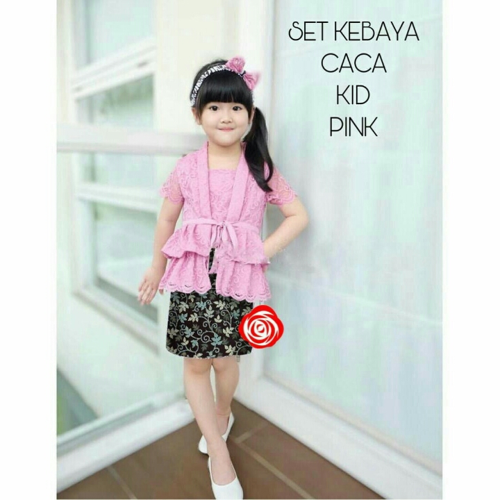 45-SET CACA BATIK KID Pink