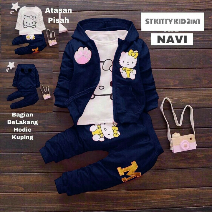 45-ST KITTY KID 3IN1 Navy