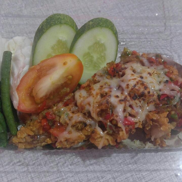 Ayam Geprek Mozarella Tanpa Nasi GC Foodbake