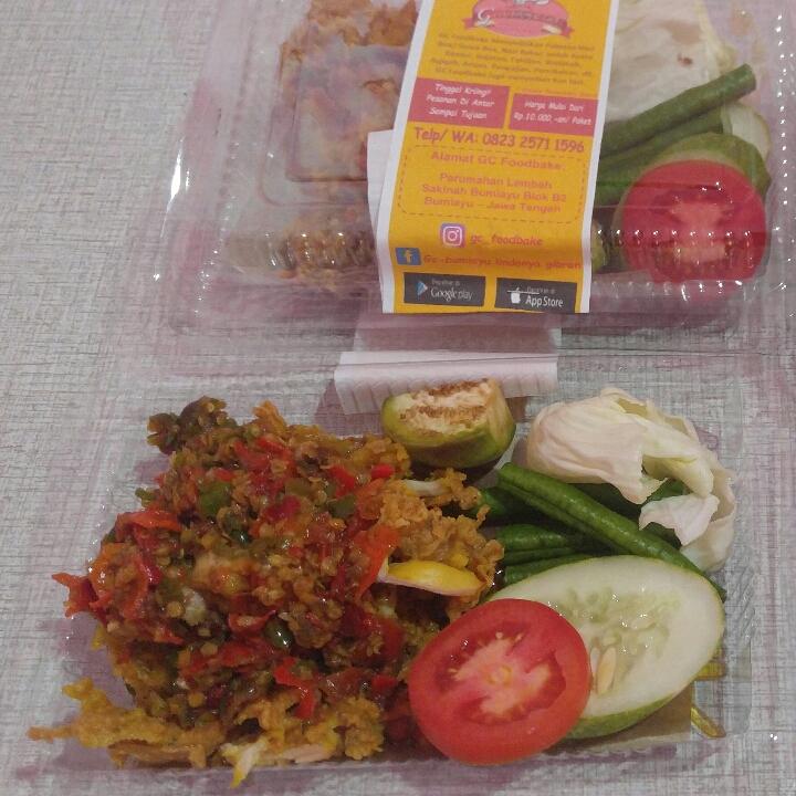 Ayam Geprek Tanpa Nasi GC Foodbake