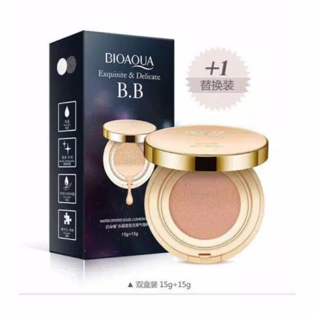 Bioaqua Exquisite and Delicate BB Cream Air Cushion Pack Gold  BB Gold