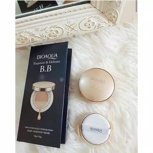 Bioaqua Exquisite and Delicate BB Cream Air Cushion Pack Gold  BB Gold 2