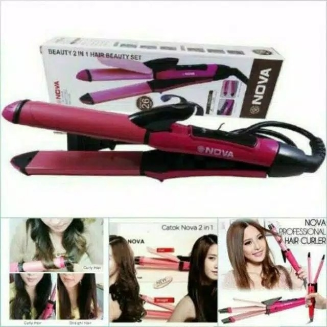 Catok Nova 2 in 1 NHC 2009 Hair Beauty Set