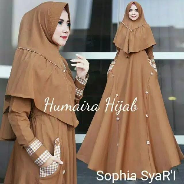 Gamis Syari SOPHIA SYARI Free hijab