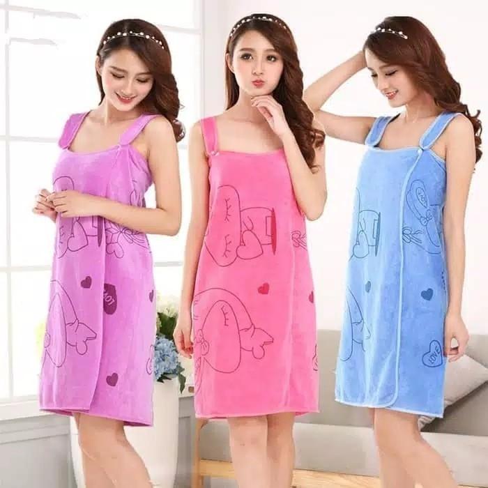 Handuk Baju Motif Dewasa  Wearable Towel  Handuk Multifungsi Kimono