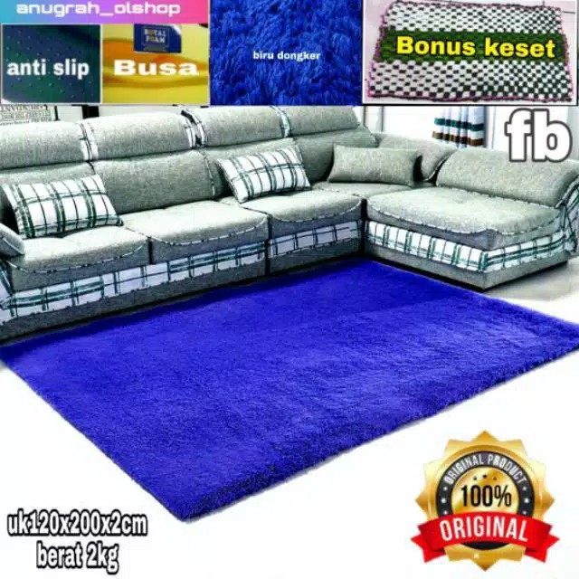 Karpet bulu matras uk 200x120x2cm