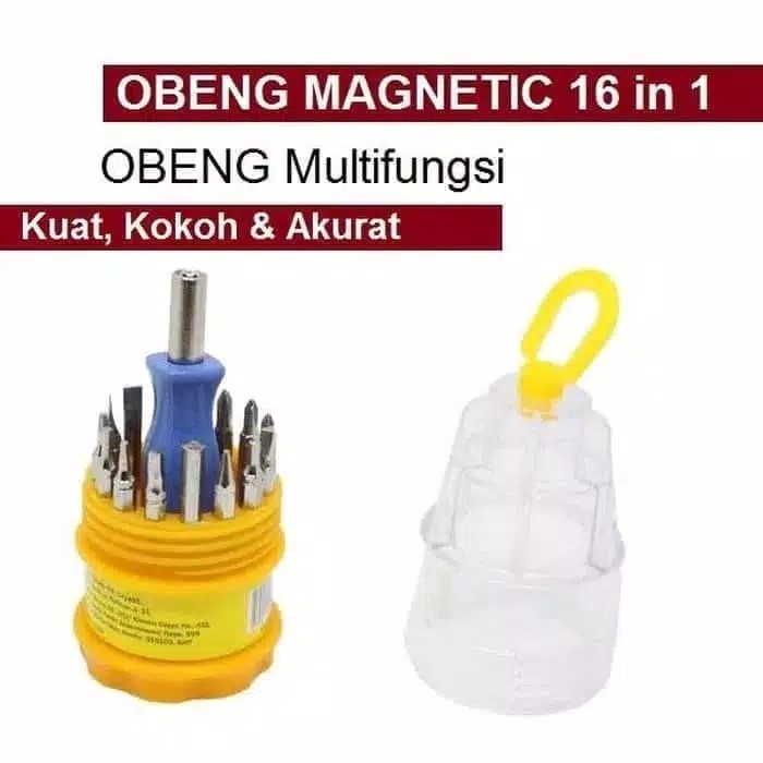 Obeng Set Multi 16 in 1 Screwdriver Handphone Elektronik 16in1 Tools