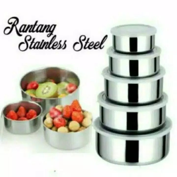 Rantang Stainless Fresh Box 5 Susun 5 in 1