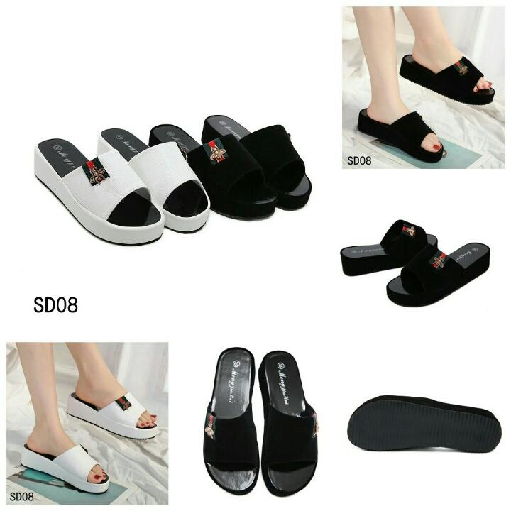 Sepatu FASHION Hana Wedges Sandal SD08
