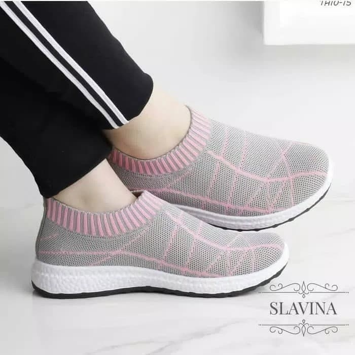 Sepatu Slip On Wanita Slavina - Pink