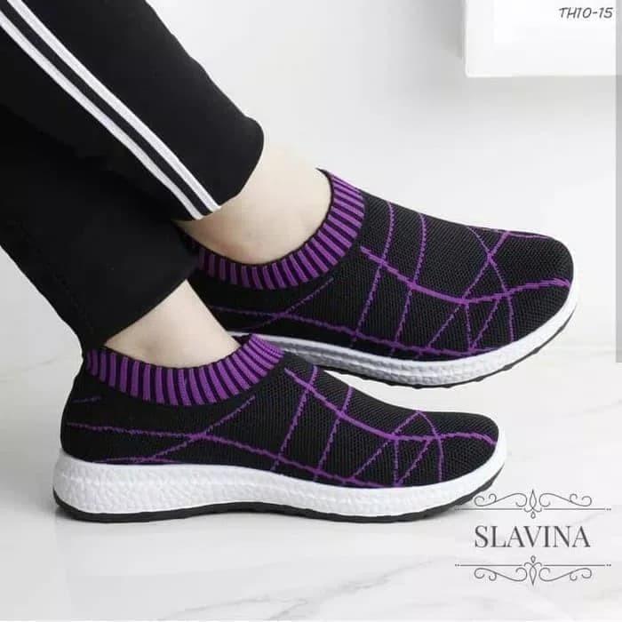 Sepatu Slip On Wanita Slavina - Ungu