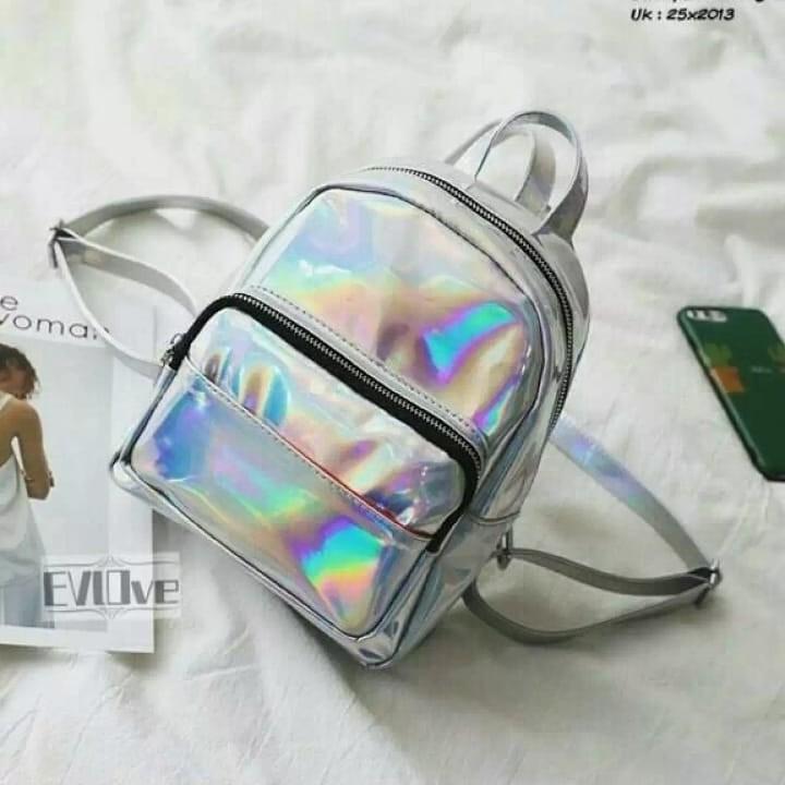 Tas Ransel Hologram Backpack Wanita