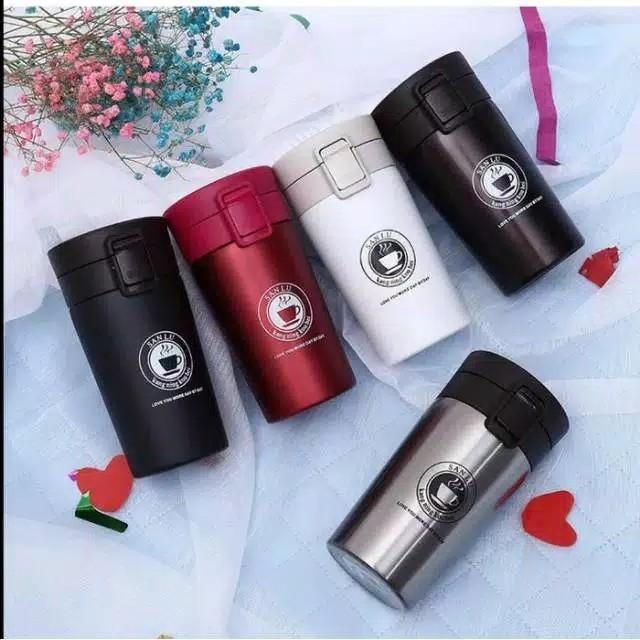 Termos Motif Gelas KopiTermos Travel Vacuum Mug Cup Coffe Stainless S