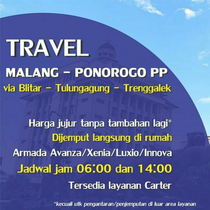 Travel Malang - Blitar PP